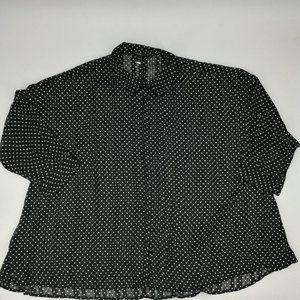 Lane Bryant Sheer Polka Dot Blouse Size 26/28
